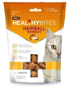 M & C Vet IQ Healthy Bites Hairball Remedy Cat Treats