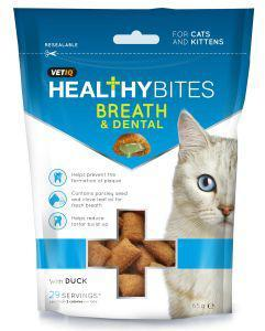 M & C Vet IQ Healthy Bites Breath & Dental Cat Treat