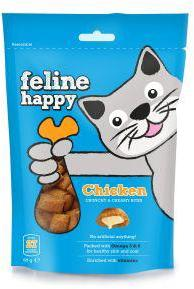 M & C Feline Happy Chicken Bites Cat Treats