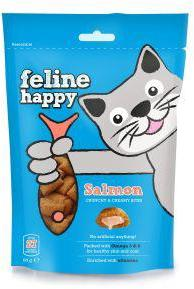 M & C Feline Happy Salmon Bites Cat Treats