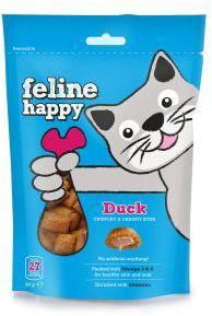 M & C Feline Happy Duck Bites Cat Treats