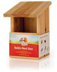 Harrisons Wooden Nest Box Robin Front Opening