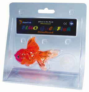 SuperFish FLUO Ornaments Goldfish Lionhead