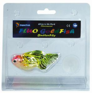 SuperFish FLUO Ornaments Goldfish Butterfly