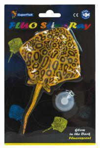 SuperFish FLUO Ornaments Stingray Yellow