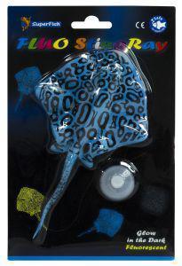 SuperFish FLUO Ornaments Stingray Blue