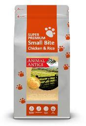 Animal Antics Super Premium Small Bite Chicken and Rice Dog Food 12kg