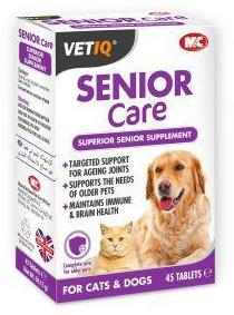 M & C Vet IQ Senior Care for Dogs and Cats (45Tabs)