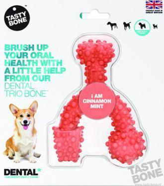 Tastybone Nylon Dental Trio Bone Cinnamon Small