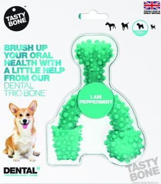Tastybone Nylon Dental Trio Bone Peppermint Small