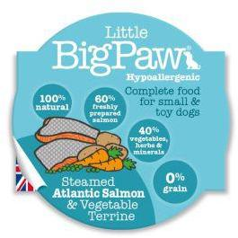 Little Big Paw Dog Steamed Salmon & Veg Dinner 85g x 8