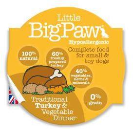 Little Big Paw Dog Traditional Turkey & Veg Dinner 85g x 8