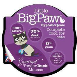 Little Big Paw Gourmet Cat Tender Duck Mousse 85g x 8