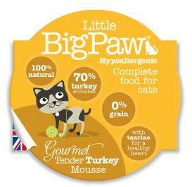 Little Big Paw Gourmet Cat Tender Turkey Mousse 85g x 8