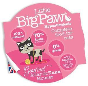 Little Big Paw Gourmet Cat Atlantic Tuna Mousse 85g x 8