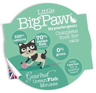 Little Big Paw Gourmet Cat Ocean Fish Mousse 85g x 8