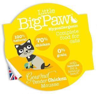 Little Big Paw Gourmet Cat Tender Chicken Mousse 85g x 8