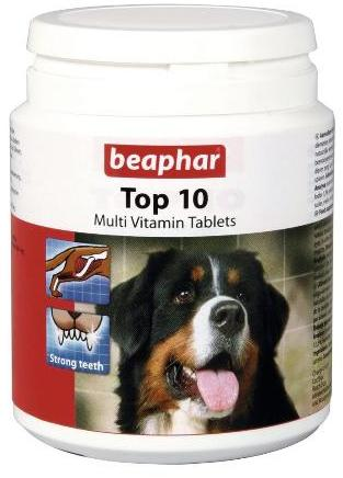 Beaphar Top 10 Vitamin Tablets For Dogs (180Tabs)