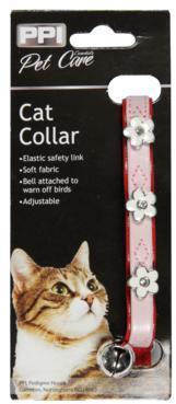 Pink Rhinestone Cat Collar