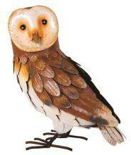 Supa Metal Barn Owl Garden Ornament 37cm