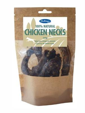 Hollings Natural Chicken Necks 120g x 8 packs
