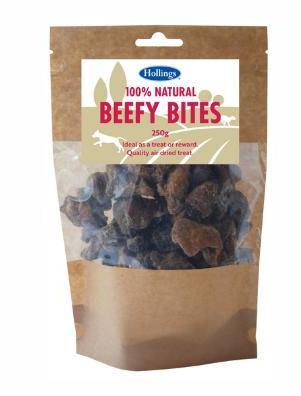 Hollings Natural Beefy Bites 250g x 8 packs