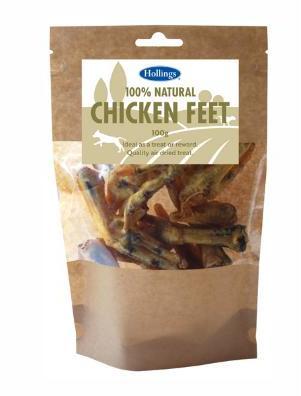 Hollings Natural Chicken Feet 100g x 8 packs