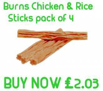 Burns Chicken and rice sticks