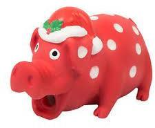 Christmas Festive Piglet Dog Toy With Real Piggy Sound