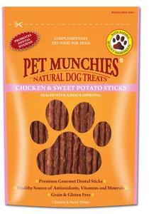 Pet Munchies Chicken & Sweet Potato Sticks x 8