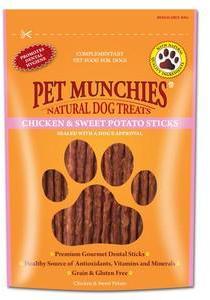Pet Munchies Chicken & Sweet Potato Sticks x 8
