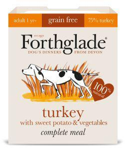 Forthglade  Adult Turkey Grain Free Dog Food 395g x 18