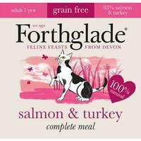 Forthglade Natural Lifestage Adult Cat Food Salmon & Turkey 12x90g