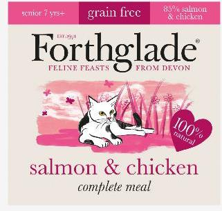 Forthglade Natural Lifestage Senior Cat Food Salmon & Chicken 12x90g