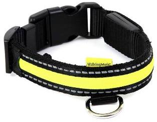 Animate Soft Nylon Flashing LED Collar 34-41cm
