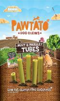 Pawtato Mint & Parsley Tubes (Vegan) Dog Treats x 12 packs