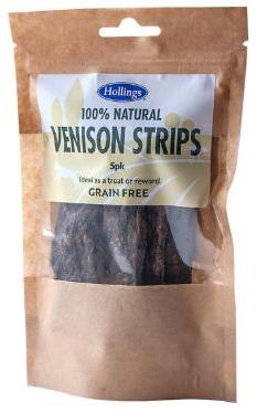 Hollings Venison Strips Dog Treats