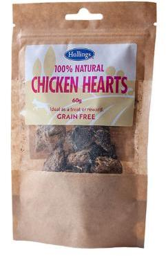 Hollings Chicken Hearts Dog Treats x 12 packets