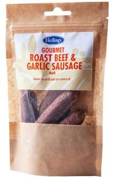 Hollings Roast Beef and Garlic Sausages Dog Treats x 12 packets