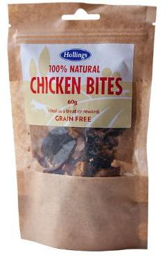 Hollings Chicken Bites Dog Treats x 12 packets