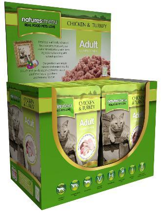 Natures Menu Chicken and Turkey Cat pouches x 12