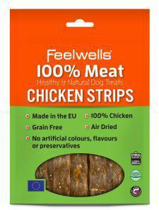 Feelwells 100% Meat Treats Chicken Strips 100g x 10