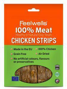 Feelwells 100% Meat Treats Chicken Strips 100g x 10