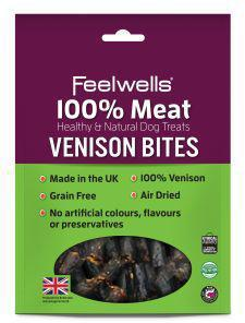 Feelwells 100% Meaty Venison Bites dog treats x 10