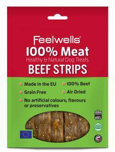 Feelwells 100% Meat Treats Beef Strips 100g x 10