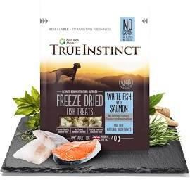 True Instinct Freeze Dried Dog Treats White Fish & Salmon x 8