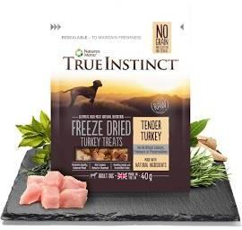 True Instinct Freeze Dried Dog Treats Tender Turkey x 8