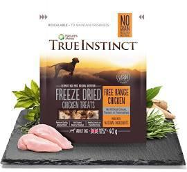 True Instinct Freeze Dried Dog Treats Free Range Chicken x 8