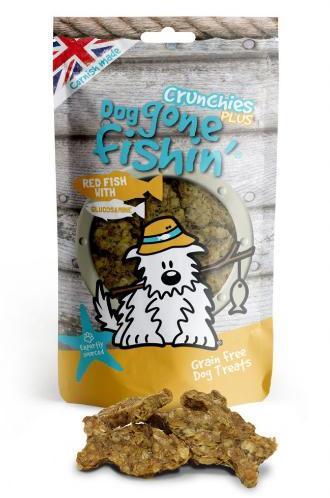 Dog Gone Fishin Red Fish with Glucosamine Crunchy Dog Treats