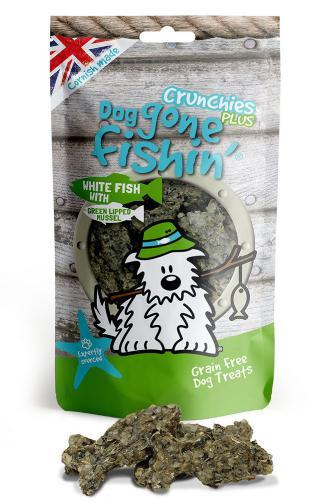 Dog Gone Fishing White Fish with Green Lipped Mussel Crunchy Dog Treats
